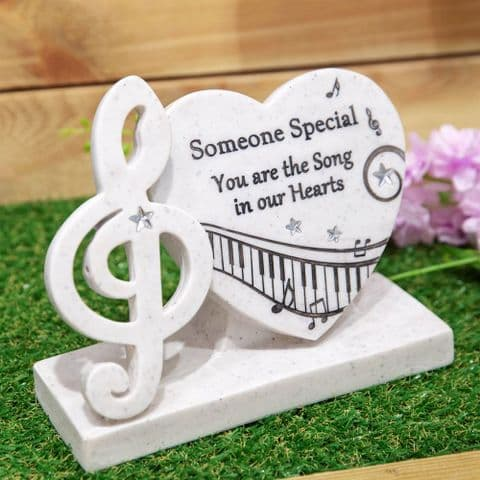 Musical Memorial Stone Grave Garden Ornament Tribute