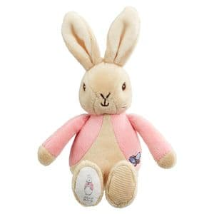 My First Flopsy Bunny Pink Bean Rattle Beatrix Potter Baby Gift
