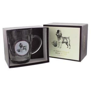 Old Fashioned Style Gentleman's Beer Glass In Giftbox Emporium Collection Beer Glass - 'Dog'