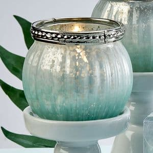 Pale Mint Green Candle Holder Table Gift Favor