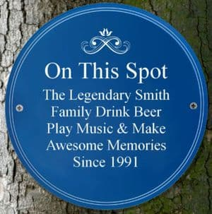 Personalised Blue National Heritage Plaque Garden Sign Gift