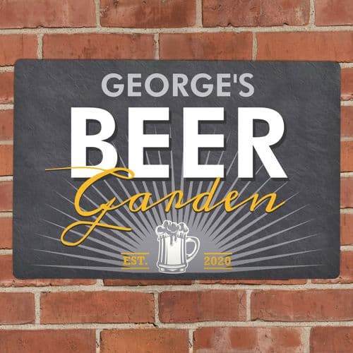 Personalised Metal Beer Garden Wall Sign Plaque Gift
