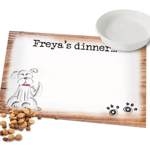 Personalised Pet Food Place Mat For Dog