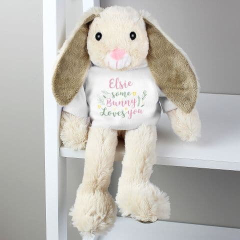 Personalised Some Bunny Loves You Soft Toy Baby Gift