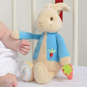Peter Rabbit Musical Soft Toy - Peter Rabbit Cot Toy Gift For Baby & Toddlers - Peter Rabbit Beatrix Potter Gifts