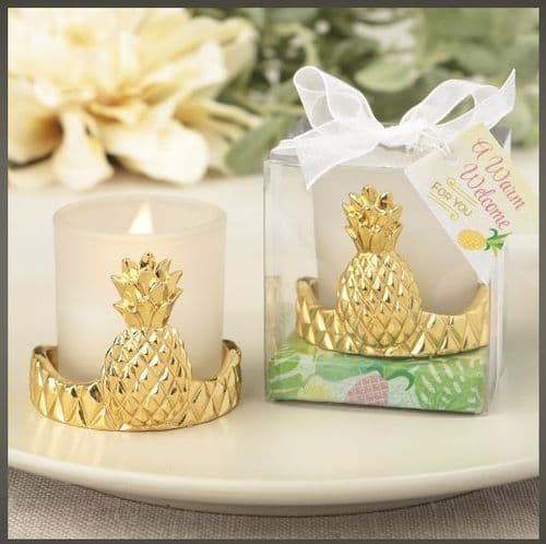 Pineapple Design Mini Candle Favor Gift Dinner Party table gift for guests