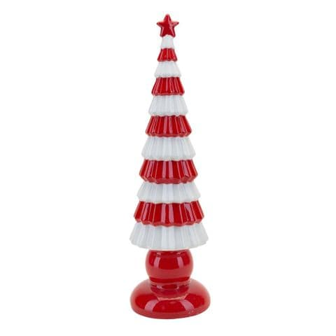 Red and White Scandi Christmas Tree Ornament Decoration
