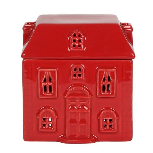 Red Ceramic House Oil and Melt Burner