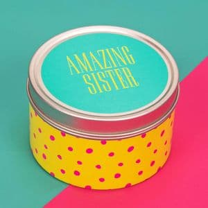 Scented Candle Tin Table Gift Favor - Amazing Sister