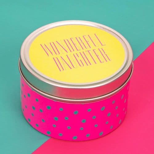 Scented Candle Tin Table Gift Favor - Wonderful Daughter