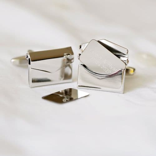 Secret Message Personalised Engraved Cufflinks