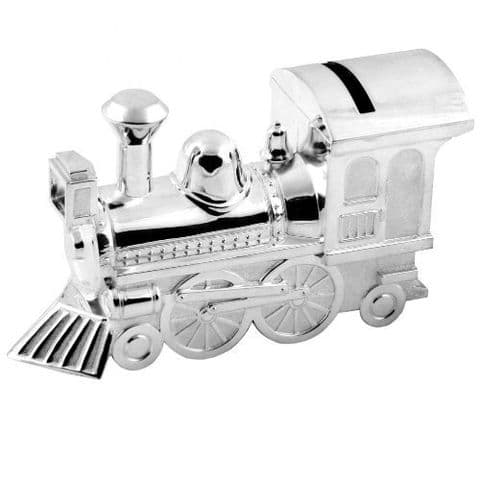 Silver Plated Train Money Box - Gifts For Baby and Christening - Christening Keepsake For Babies