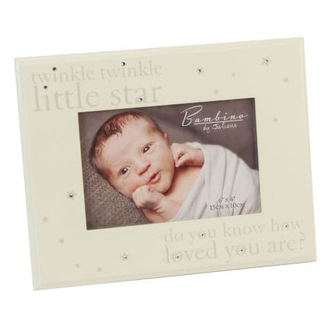 Solid Wood Cream Photo Frame For Baby - Twinkle Twinkle Baby Photo Frame
