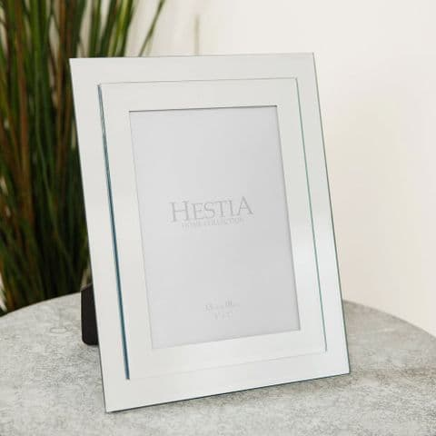 Stepped Mirrored Glass Photo Frame 5 x 7