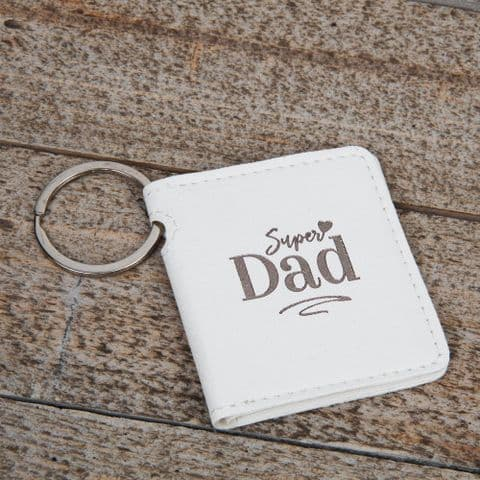 Super Dad Photo Frame Keyring Gift For Fathers Day & Birthday