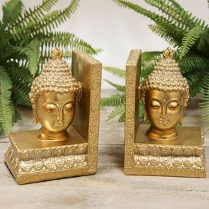 Thai Buddha Golden Bookends Home and Office Ornament