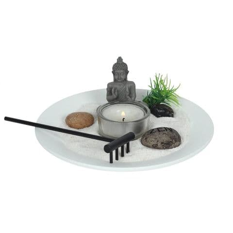 Thai Buddha  Mini Zen Garden Kit Candle Holder