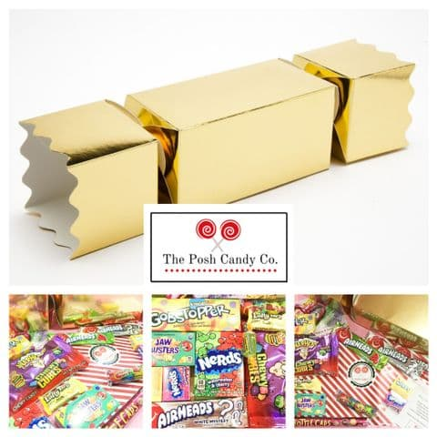 The Posh Candy Company Giant Christmas Cracker American Candy Gift