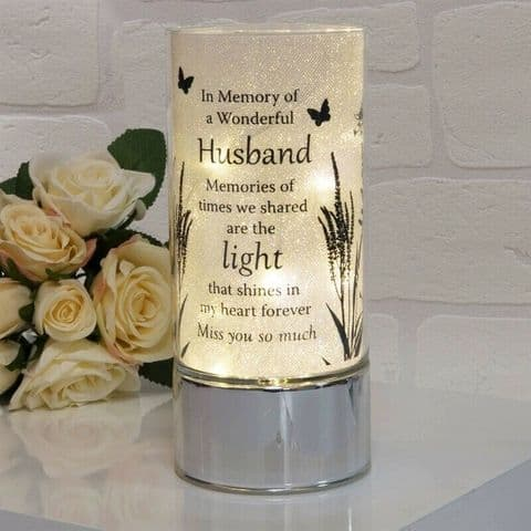 Thoughts Of You Memorial Tube Light  Home Ornament for Husband
