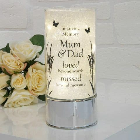 Thoughts Of You Memorial Tube Light  Home Ornament for Mum and Dad