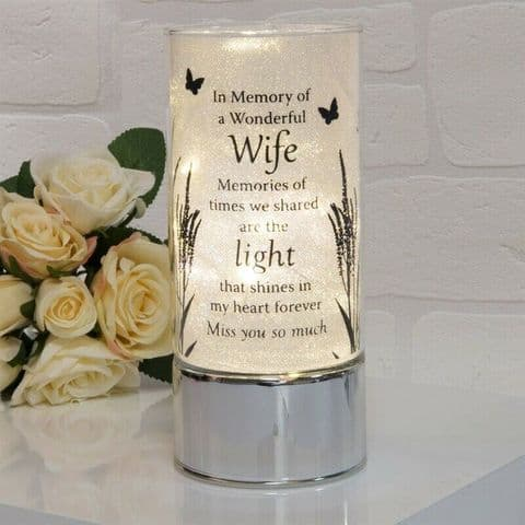 Thoughts Of You Memorial Tube Light  Home Ornament for Wife