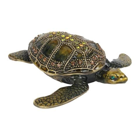 Turtle Design Trinket Box - Treasured Trinkets Collectable Gift