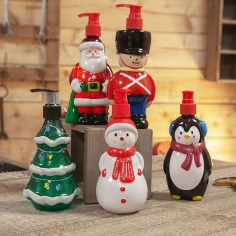 Vanilla Frost Scented Hand Soap in Christmas Character Dispenser Gift