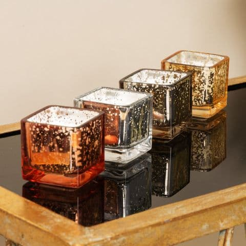 Vanilla Scented Glass Jar Decorative Candles Set of 4 Home Decor Gift
