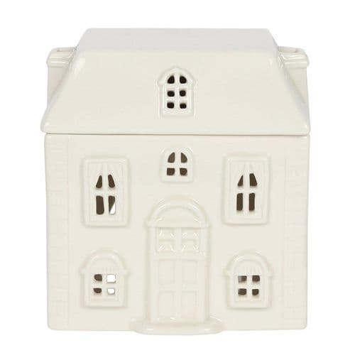 White Ceramic House Oil and Melt Burner