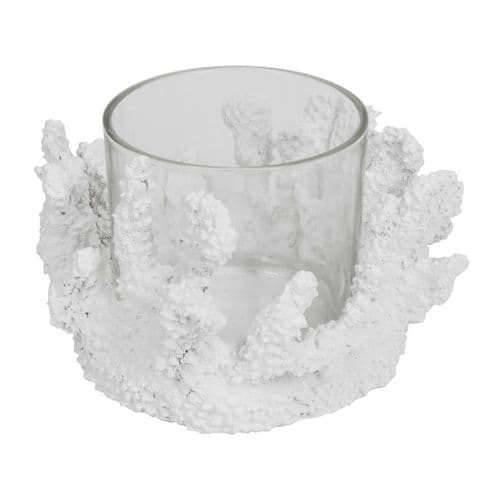 White Coral Candle Holder Decorative Beach Theme Home Ornament