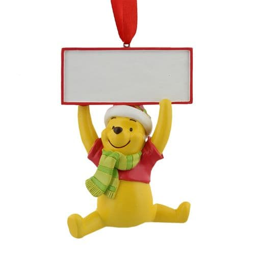 Winnie The Pooh Christmas Tree Decoration hanging ornament ready to personalise