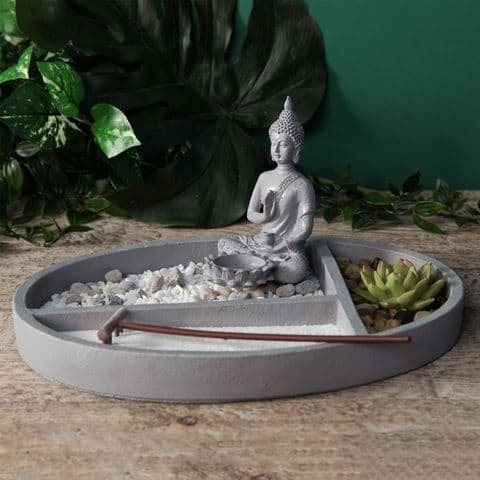 Zen Garden Kit - Tabletop Zen Garden Complete With Buddha Figurine