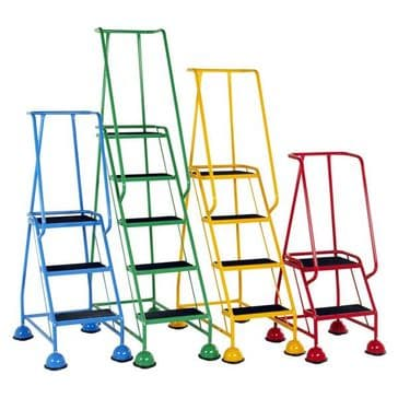 Classic Colour Glide-Along Mobile Steps <br>Models: S005 to S014