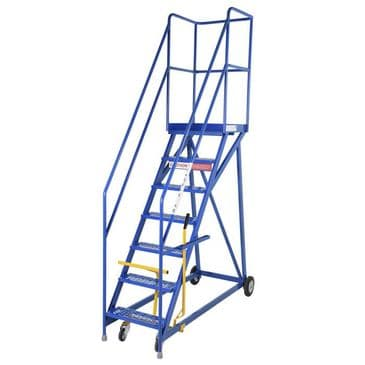Heavy Duty Mobile Steps with Narrow Base, Rubber Treads