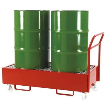 Mobile Drum Sump Trolley for 2 Vertical Drums