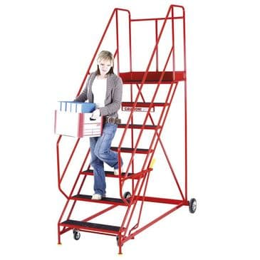 Mobile Steps with Handlock Anchorage, Red