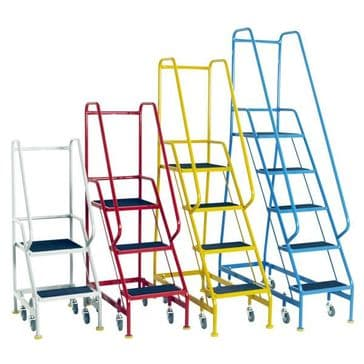 Narrow Aisle Spring  Loaded Steps <br />Models: S301 to S308