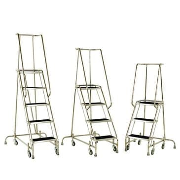 Stainless Steel Mobile Steps <br>Models: S215 to S217
