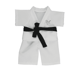 Karate Outfit with a black belt - 8""
