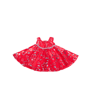 Red and Silver Hearts Dress