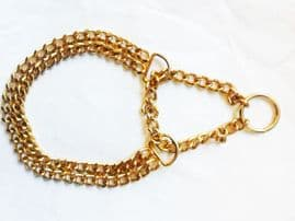 Double Row Half Check STEEL GOLD PLATED Chain