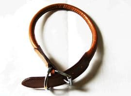 Super Soft Round Leather Buckle Collar