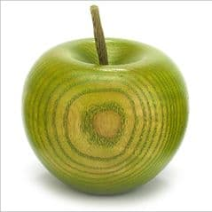 Green colour stained Ash apple