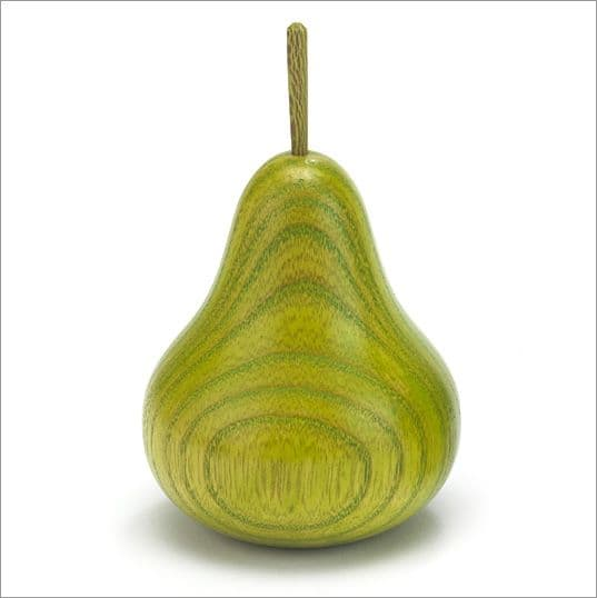Green colour stained Ash pear
