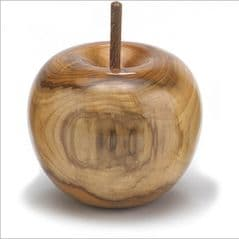 Natural Yew with sap wood apple