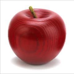 Red colour stained Ash apple