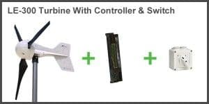 12V LE-300, RUN/STOP SWITCH & DL-300 CHARGE CONTROLLER BUNDLE