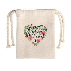 Printable Linen Look Draw String - Gift Bags