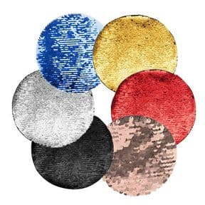 Printable Sequin Reveal Adhesive Patch - Round
