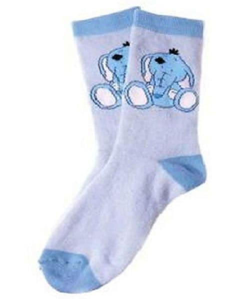 Adult Socks Toots the Elephant from Me To You My Blue Nose Friends
